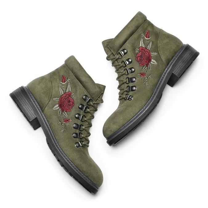 BATA Chaussures Femme bata, Vert, 599-7183 - 19