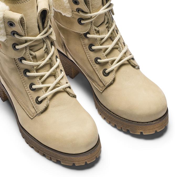 Chaussure d'hiver en cuir avec fausse fourrure weinbrenner, 696-8168 - 15