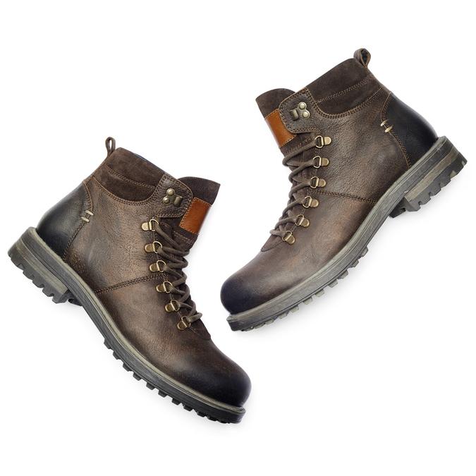 Men's shoes bata, Brun, 894-4136 - 19
