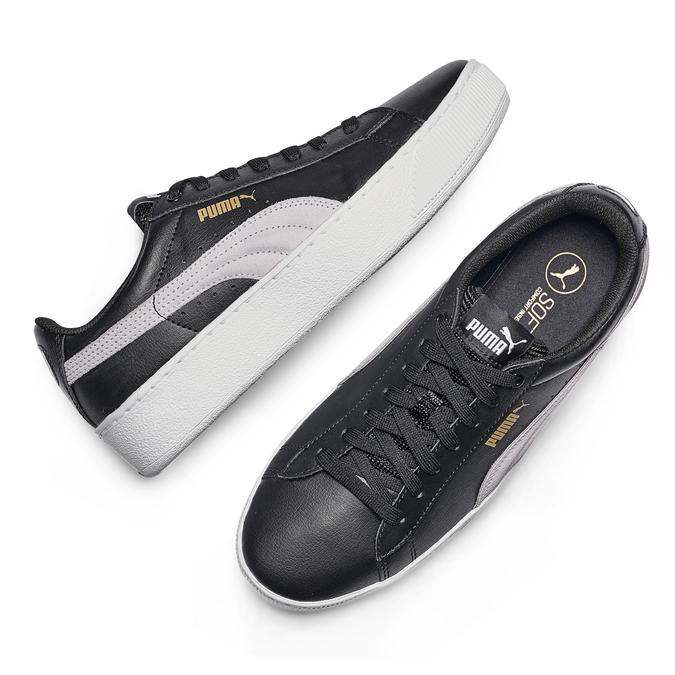 Childrens shoes puma, Noir, 501-6659 - 19