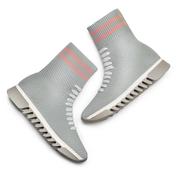 Women's shoes bata, Gris, 549-2207 - 26