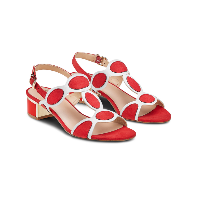 Women's shoes insolia, Rouge, 669-5297 - 16