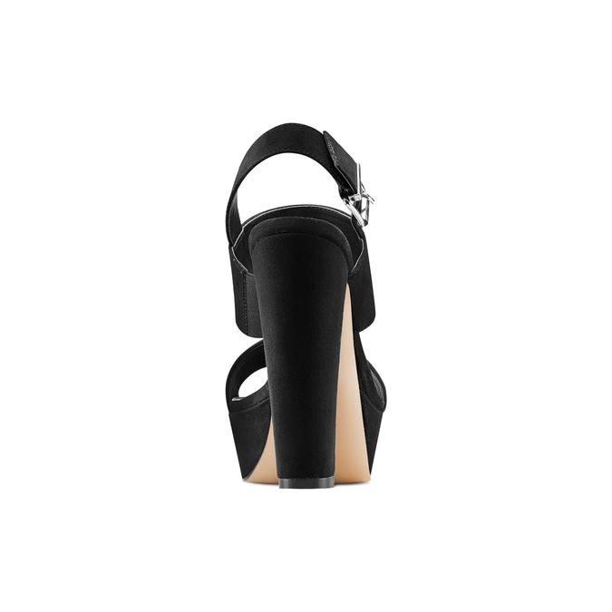 Sandale à talon massif bata, Noir, 769-6541 - 15
