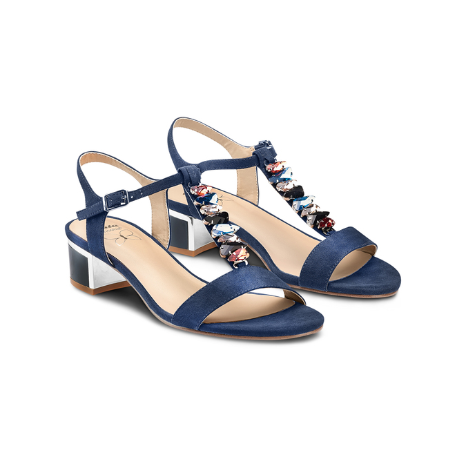 Women's shoes insolia, Bleu, 669-9131 - 16
