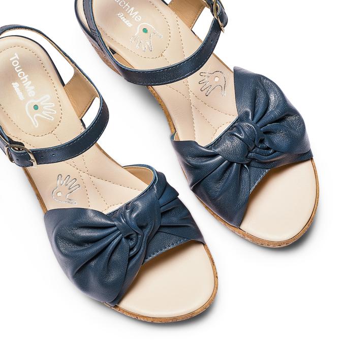 Women's shoes bata-touch-me, Bleu, 664-9302 - 26