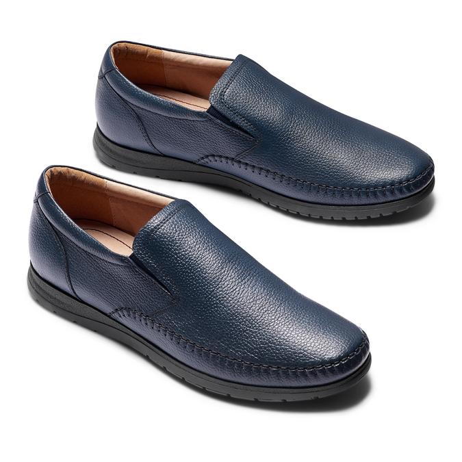 Men's shoes comfit, Bleu, 854-9118 - 26