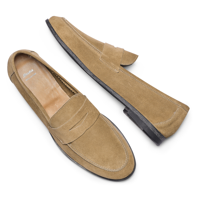 Men's shoes bata, Jaune, 853-8129 - 26