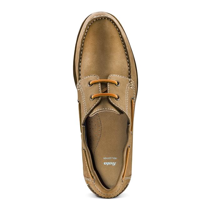 Men's shoes bata, Beige, 854-8142 - 17