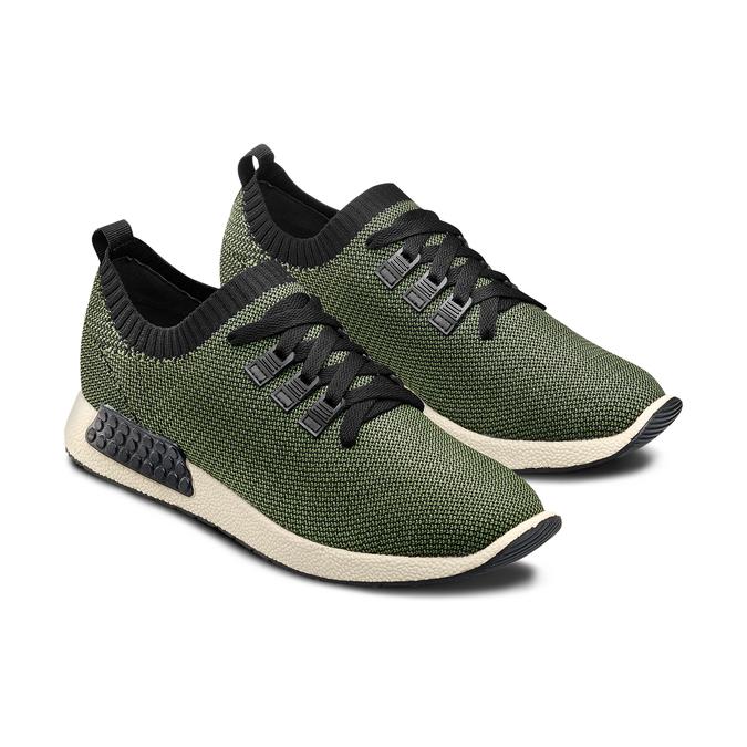 Men's shoes bata, Vert, 839-7147 - 16