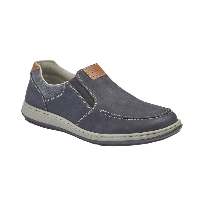 Rieker men's shoes rieker, Bleu, 831-9146 - 13