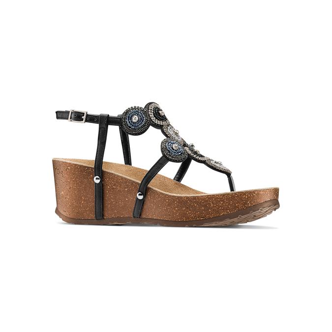 BATA Chaussures Femme bata, Noir, 661-6357 - 13