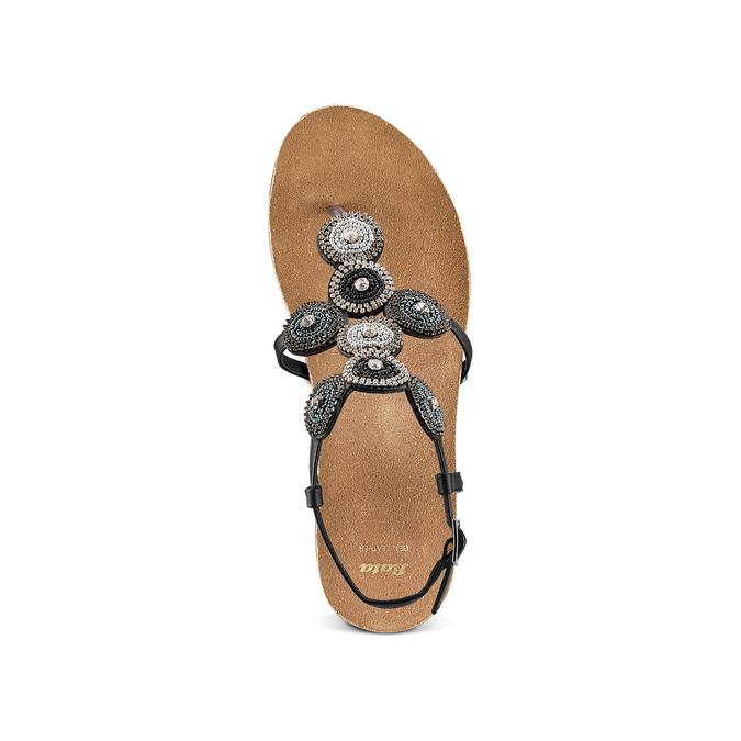 BATA Chaussures Femme bata, Noir, 661-6357 - 17