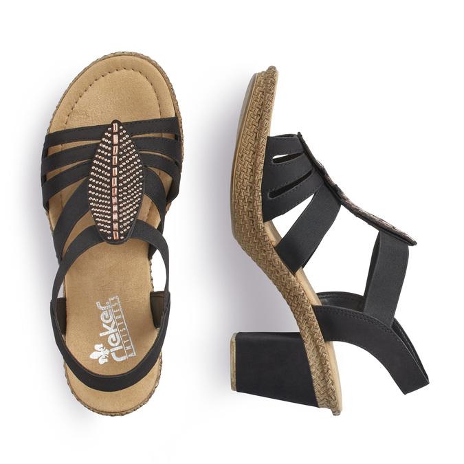RIEKER Chaussures Femme rieker, Noir, 761-6475 - 16