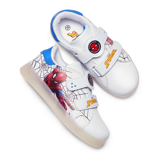Childrens shoes spiderman, Blanc, 311-1158 - 26