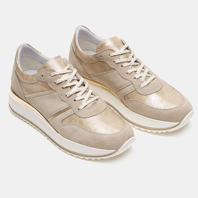 Chaussures Femme bata, Beige, 643-8159 - 16