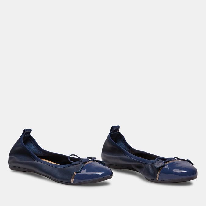 Ballerines femme bata, Bleu, 524-9388 - 26