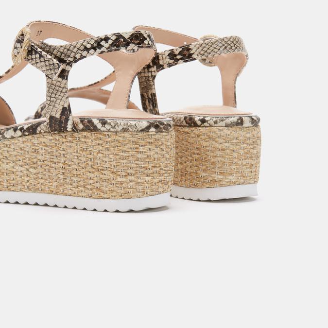 Chaussures Femme bata, Beige, 761-8771 - 19