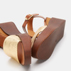 Chaussures Femme bata, Or, 764-8751 - 19