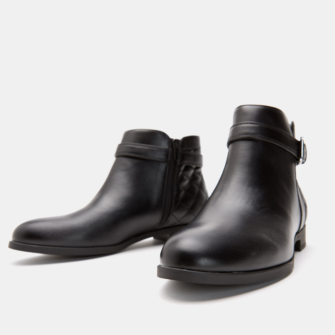 Bottines hautes bata, Noir, 591-6767 - 16