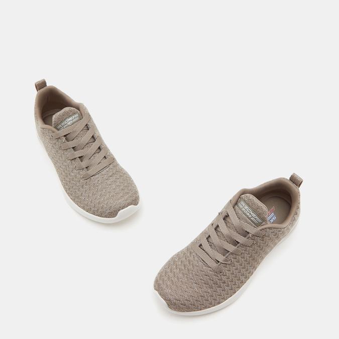 Baskets femme skechers, Beige, 509-3130 - 16