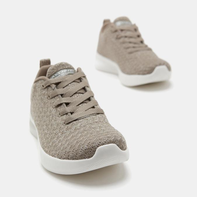 Baskets femme skechers, Beige, 509-3130 - 17