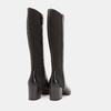 Bottes en cuir sur talon large flexible, Noir, 794-6689 - 15