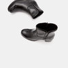 Bottines en cuir de type tronchetto sur talon large bata, Noir, 794-6751 - 19