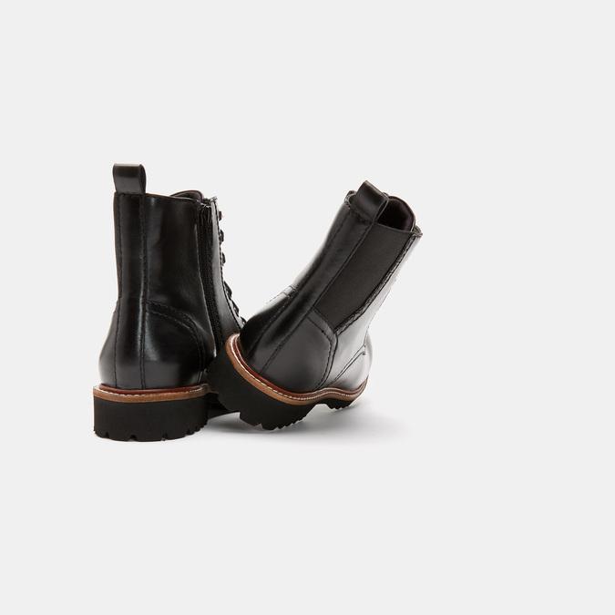 Rangers en cuir, effet vernis bata, Noir, 594-6849 - 15
