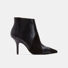 Bottines en pointe de type tronchetto bata, Noir, 791-6298 - 13