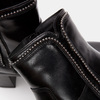Bottines en cuir de type tronchetto sur talon large bata, Noir, 794-6751 - 26