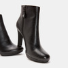 Bottines en cuir de type tronchetto insolia, Noir, 794-6675 - 16