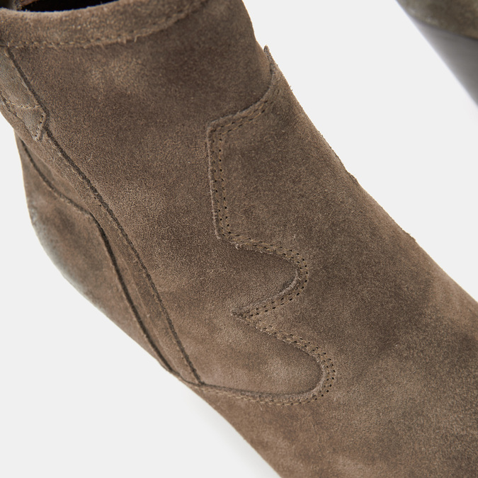 Bottes texanes en suédine bata, Brun, 793-4587 - 26