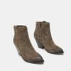 Bottes texanes en suédine bata, Brun, 793-4587 - 16