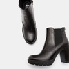 Bottines en cuir bata, Noir, 694-6501 - 15