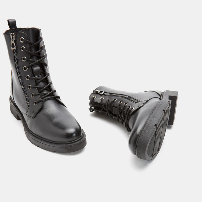 Bottines en cuir bata, Noir, 594-6383 - 15