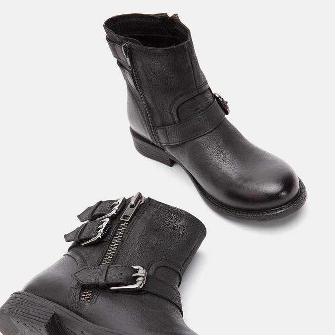 Bottines avec boucles bata, Noir, 596-6578 - 19