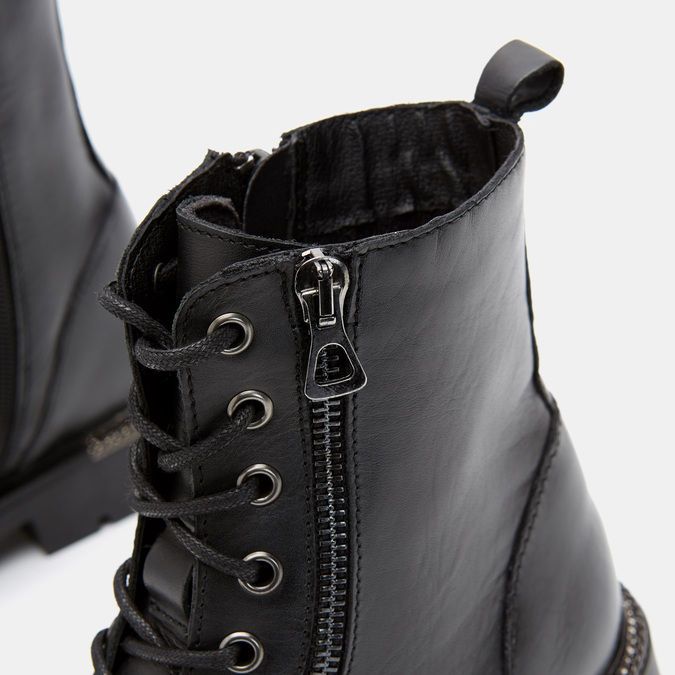 Bottines en cuir bata, Noir, 594-6383 - 26