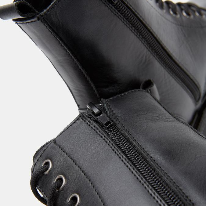 Bottines en cuir bata, Noir, 594-6382 - 17