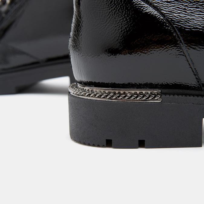 bottines en cuir vernis femme bata, Noir, 598-6107 - 26