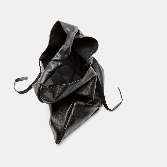 Sac  hobo en cuir bata, Noir, 964-6355 - 17
