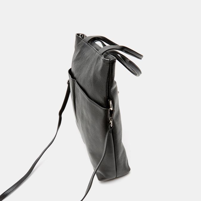 Cabas en cuir bata, Noir, 964-6338 - 15