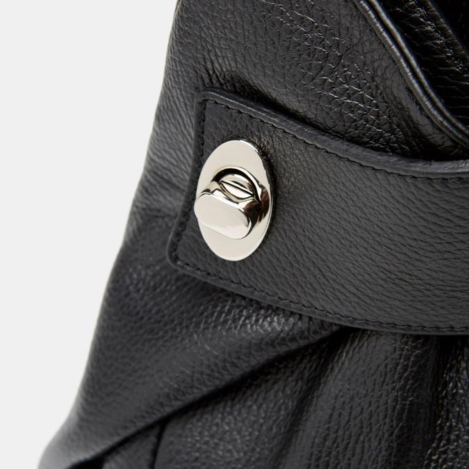 Sac à dos en cuir bata, Noir, 964-6360 - 26