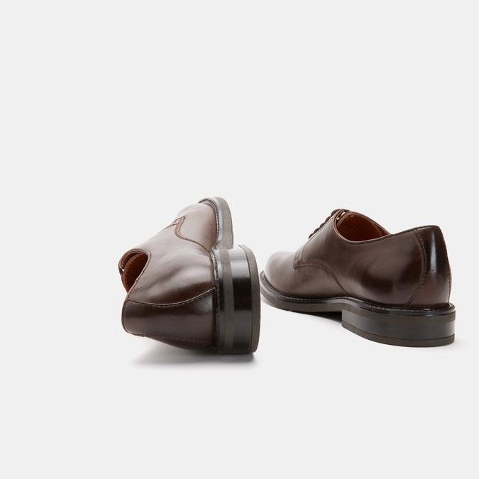 chaussures basses en cuir homme bata, Brun, 824-4264 - 19