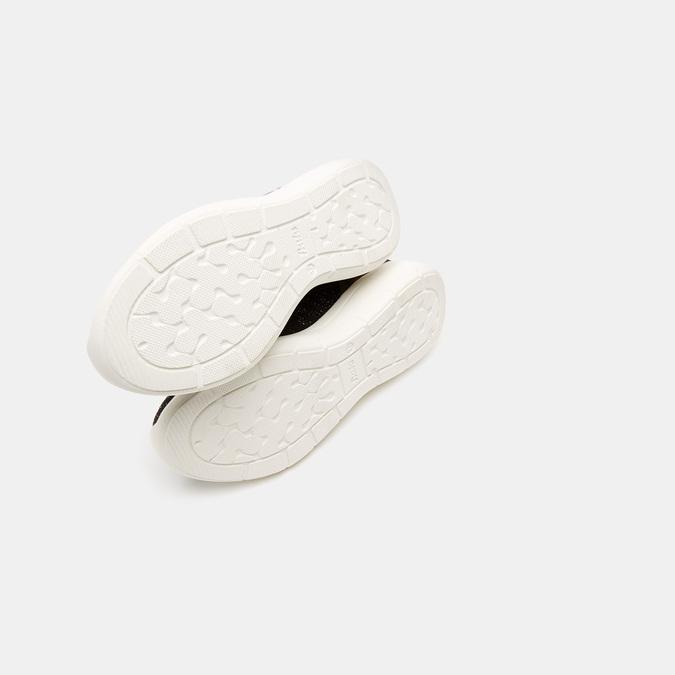 Baskets Knit femme bata, Noir, 549-6768 - 19