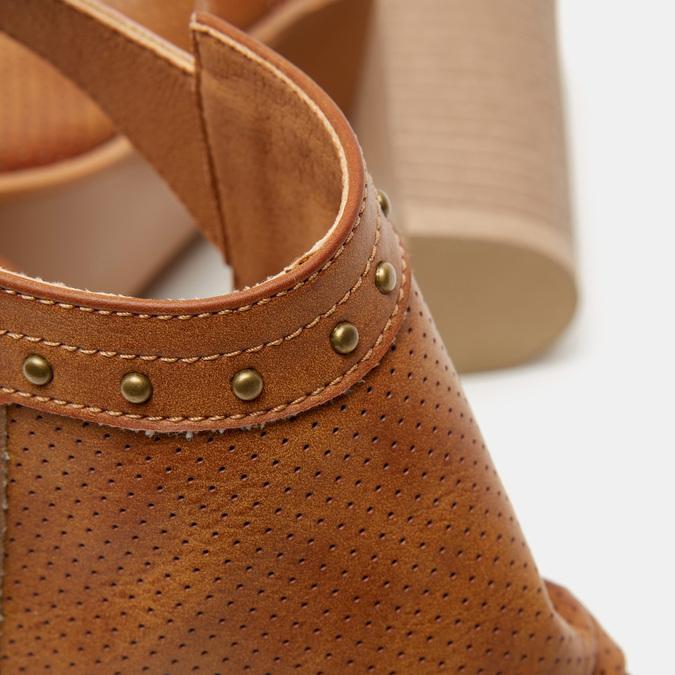 Sandales à dessus perforé bata, Brun, 761-3267 - 15