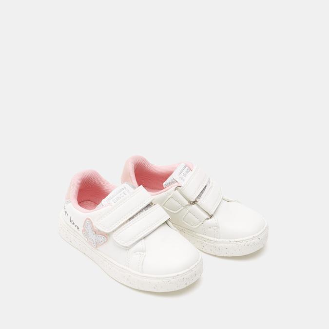 Baskets fille à fermeture éclair mini-b, Blanc, 221-1102 - 26