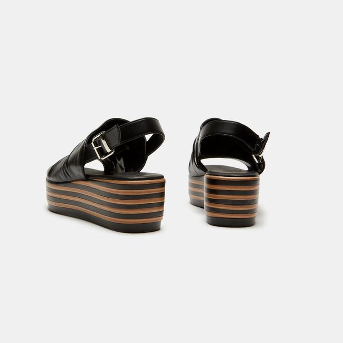 Sandales à plateforme bata, Noir, 761-6887 - 15