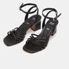 Sandales à demi-talon et à bride autour de la cheville bata, Noir, 761-6884 - 26