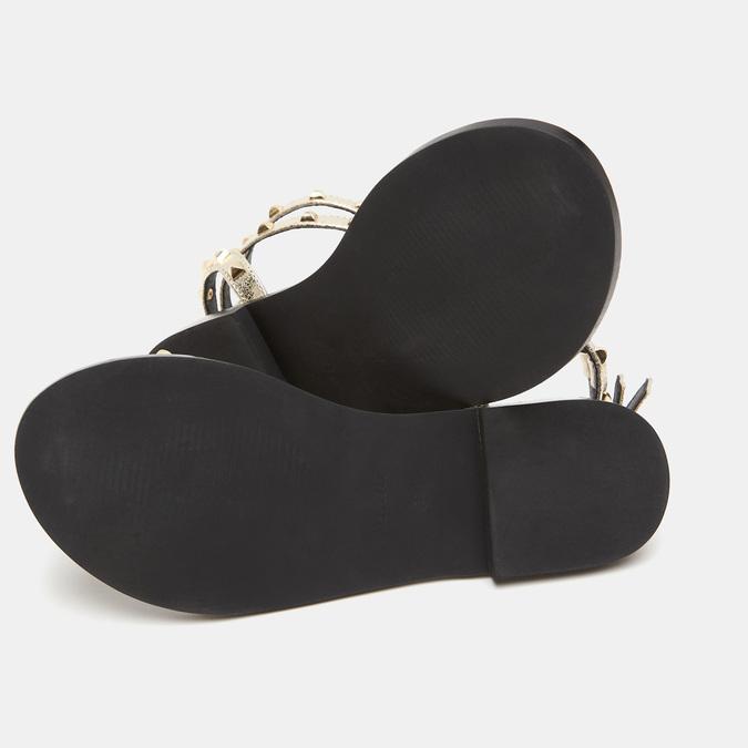 Sandales cloutées bata, Or, 561-8838 - 19