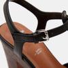 Sandales à talon large et à plateforme bata, Noir, 761-6881 - 26